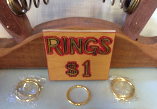 Rings For Sale on Rack